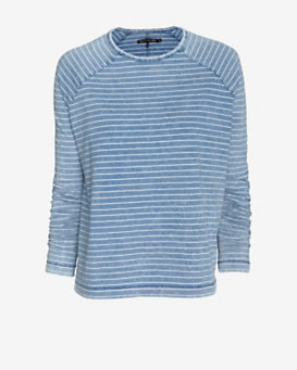 rag & bone/JEAN Cotton Chambray Stripe Tee
