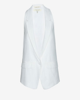 rag & bone Ines Oversized Vest: White