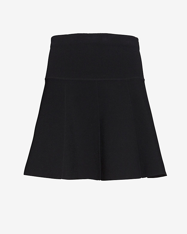 rag & bone Isla Knit Flare Skirt: Black