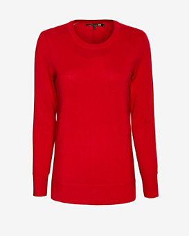 rag & bone/JEAN Wool Crew Sweater: Red