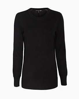 rag & bone/JEAN Wool Crew Sweater: Black