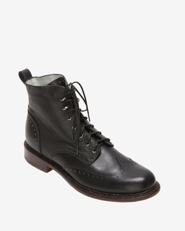 rag & bone Cozen Lace Up Boots: Black