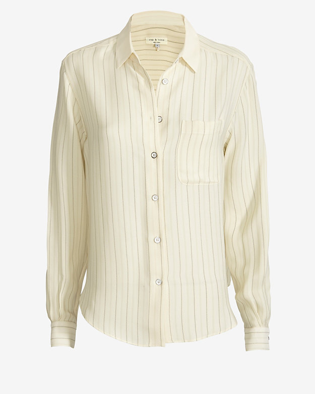 rag & bone Jo Anne Long-Sleeve Blouse