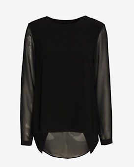rag & bone Harper Long-Sleeve Blouse