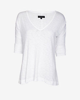 rag & bone/JEAN Theo Long Sleeve V Neck Tee