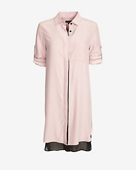 rag & bone Double Layered Shirtdress