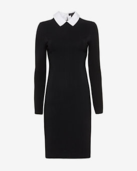 rag & bone Maria Removable Collar Dress