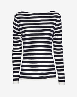rag & bone Linda Cowl Back Striped Pullover