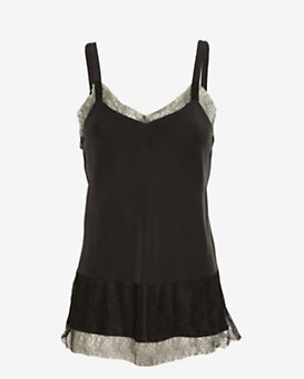 rag & bone Maya Lace Trim Silk Cami
