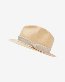 rag & bone Ribbon Trim Summer Straw Fedora