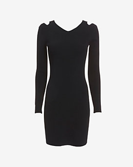 rag & bone Ashlyn Cut Out Shoulder Ribbed Dress