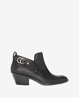rag & bone Sullivan Buckle Detail Bootie: Black