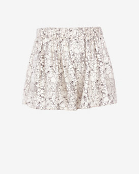 rag & bone Holten Printed Silk Shorts