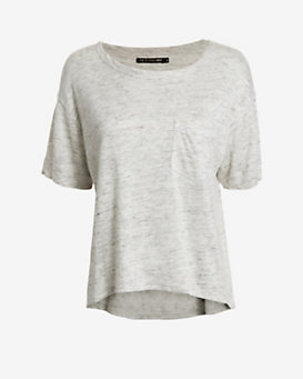 rag & bone/JEAN Crop Pocket Tee: Grey