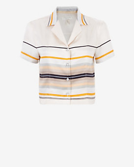 rag & bone League Crop Blouse