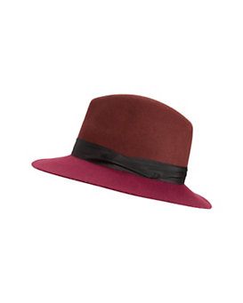rag & bone Colorblock Floppy Brim Fedora