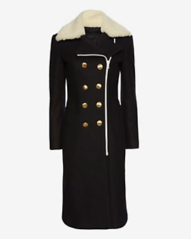 rag & bone Sullivan Shearling Collar Coat