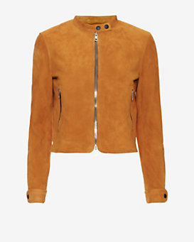 rag & bone Carriage Suede Biker Jacket