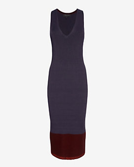 rag & bone Kristen Ribbed Knit Midi Dress