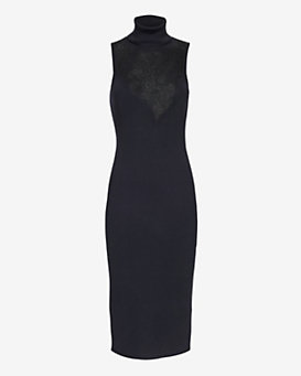 rag & bone Carolyn Lace Panel Sweater Dress
