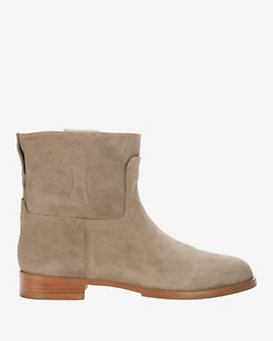 rag & bone Holly Flat Suede Moto Boot: Stone