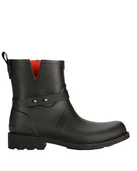 rag & bone Rubber Moto Rain Boot