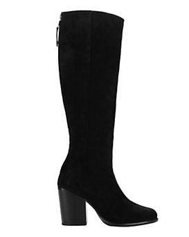 rag & bone Ashby Knee High Suede Boots: Black