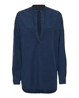 rag & bone/JEAN Gingham Plaid Tunic