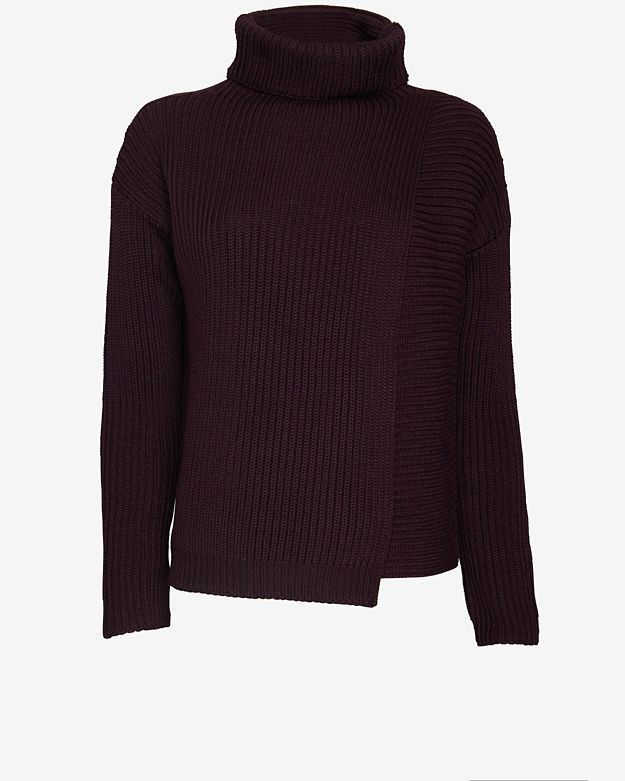 Joseph Chunky Wrap High Neck Sweater