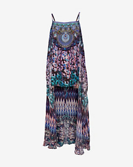 Camilla Over Lay Crystal Print Dress