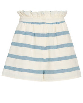 Mara Hoffman Paper Bag Striped Cotton Shorts