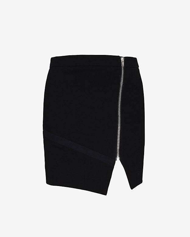 IRO Asymmetric Zipper Detail Mini Skirt