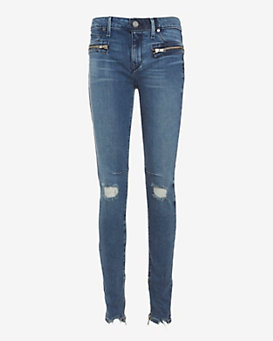 RtA Denim Hip Zip Cosmic Blue Skinny