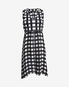 Marissa Webb EXCLUSIVE Farica Checkmate Layered Dress