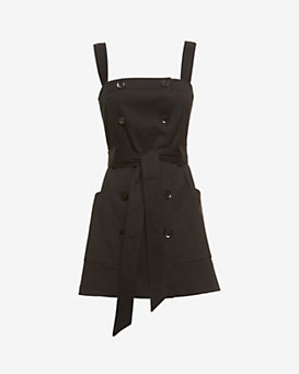 Marissa Webb EXCLUSIVE Marine Belt Tie Vest Trench: Black