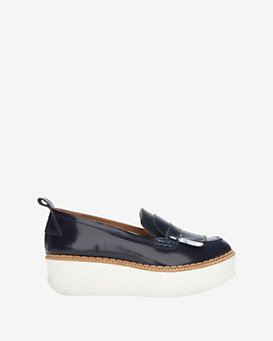 Flamingos Fringe Loafer Platform: Navy