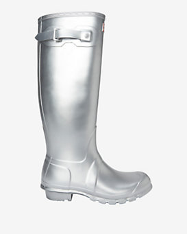 Hunter Original Rubber Rainboot: Silver