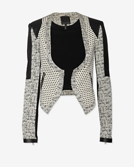 Marissa Webb Tweed/Leather Jacket