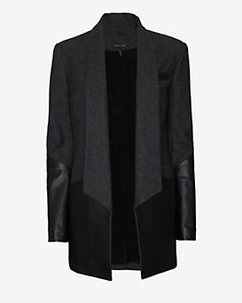 Marissa Webb Leather/Wool Tux Jacket