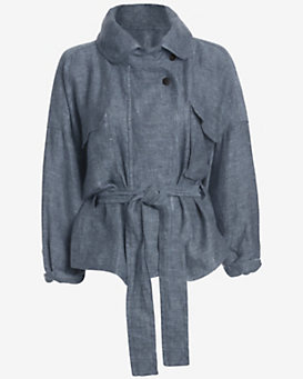 Marissa Webb EXCLUSIVE Kayla Linen Denim Anorak