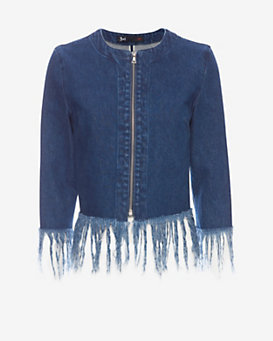3X1 Denim Fringe Jacket