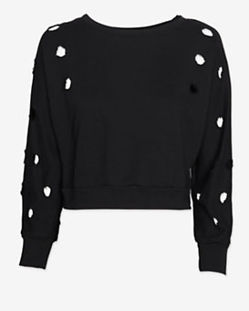 Drifter EXCLUSIVE Deconstructed Cropped Sweatshirt