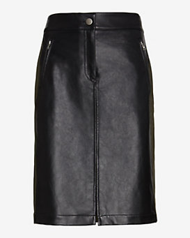 Marissa Webb Canvas/Leather Pencil Skirt