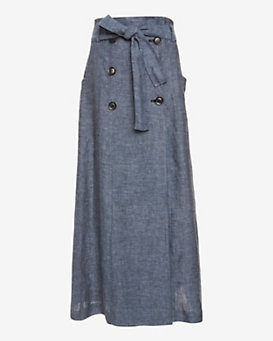 Marissa Webb Alexina Chambray Sailor Maxi Skirt