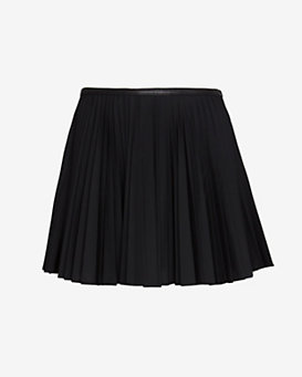 Ohne Titel EXCLUSIVE Leather Waistband Pleated Skirt