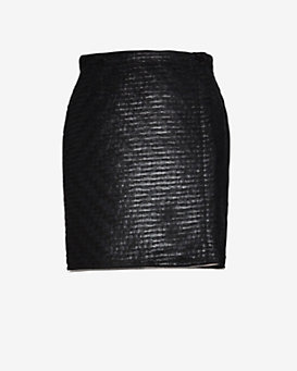 Yigal Azrouel EXCLUSIVE Tufted Zipper Detail Wrap Skirt
