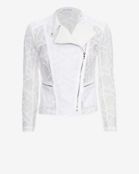Yigal Azrouel EXCLUSIVE Lace Moto Jacket