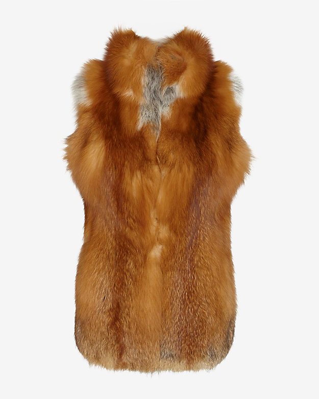 Yves Salomon Red Fox Fur Vest