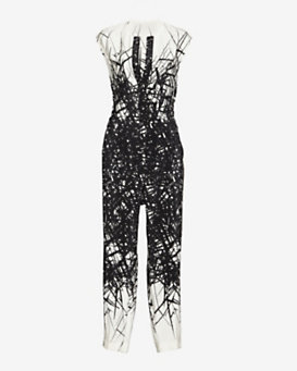 Yigal Azrouel Printed Open Back Jumper