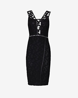 Yigal Azrouel Jet Lace Zipper Dress